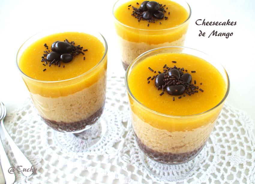 La cocina de cuchy cheesecakes de mango sin horno - Postres ligeros y rapidos ...