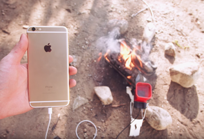 How to charge your phone with burning fire