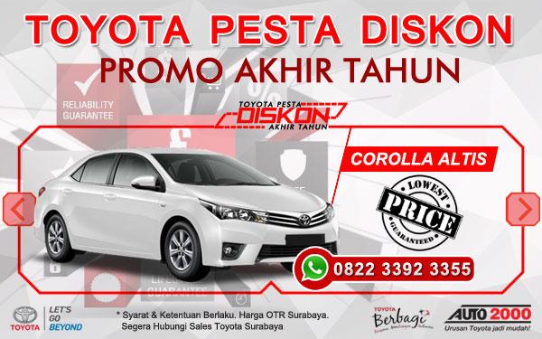 Promo Akhir Tahun Toyota Corolla Altis Surabaya