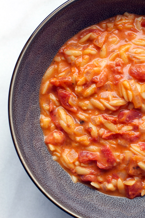 Tomato Orzo Soup || A Less Processed Life