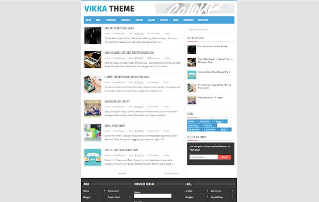 Vikka Responsive Blogger Template