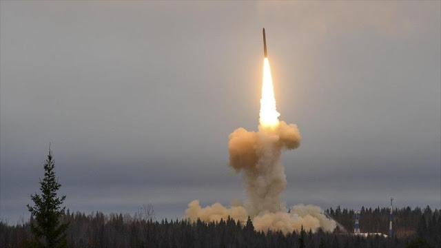 Rusia lanza otro misil balístico capaz de llevar ojivas nucleares