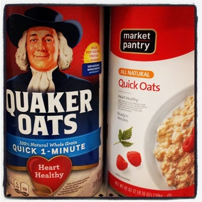 Vegan Vegetarian Food Breakfast Target Oatmeal Quaker Oats 100% Natural Quick 1-Minute Oats and Market Pantry All Natural Quick Oats