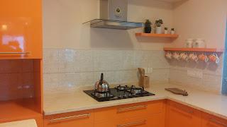 Modular Kitchen in Hi Gloss shutters