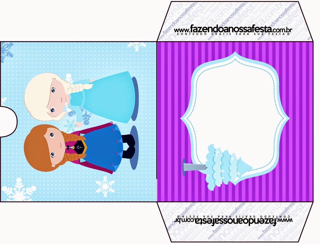 Etiqueta Funda de CD´s para imprimir gratis de Frozen Niñas en Navidad.