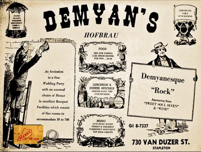 Demyan's and later The Caves ad