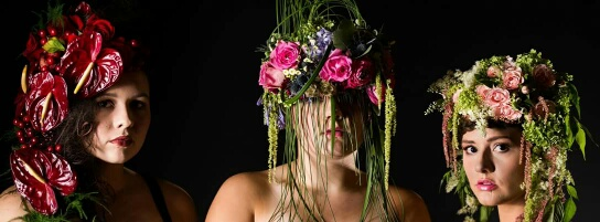 Floral couture fashion by Patience Pickner - PromFlowers Designer Spotlight AIFD PFCI SDCF