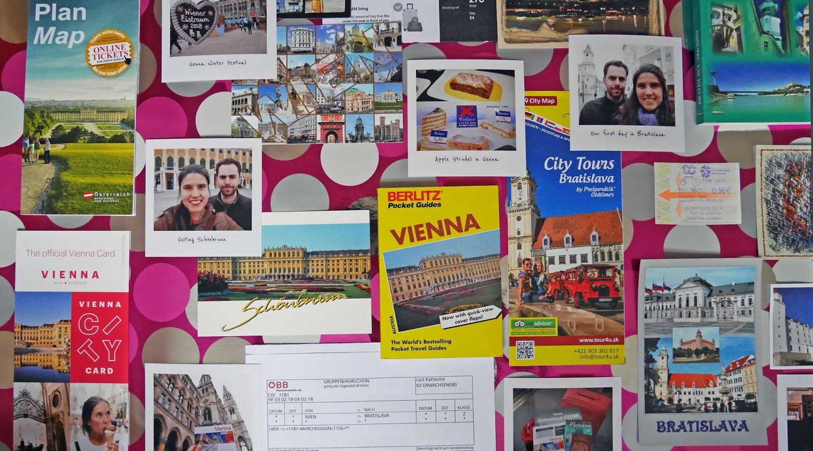 Photos, postcards, leaflets and stickers from Vienna, Austria