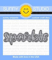 Sunny Studio Stamps: Sparkle Word Steel Rule Die
