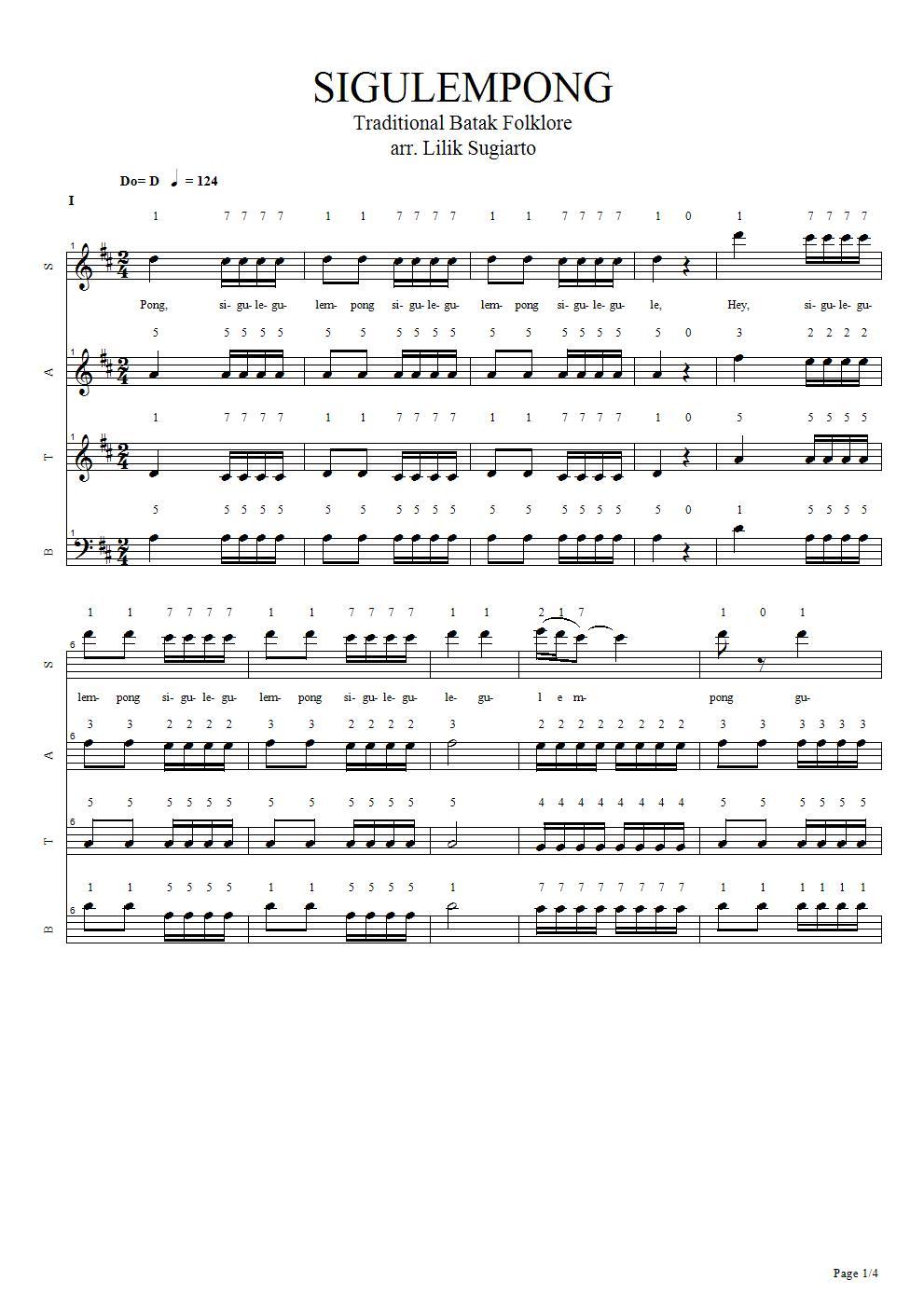 Lirik Lagu Sigulempong : lirik, sigulempong, Dareh, Sigulempong,
