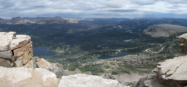 Panorama of  Bald Mountain Hike by Mirror Lake in Uintas Kamas, Utah