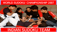 It picture shows Indian Sudoku Team which was selected for World Sudoku Championship 2007