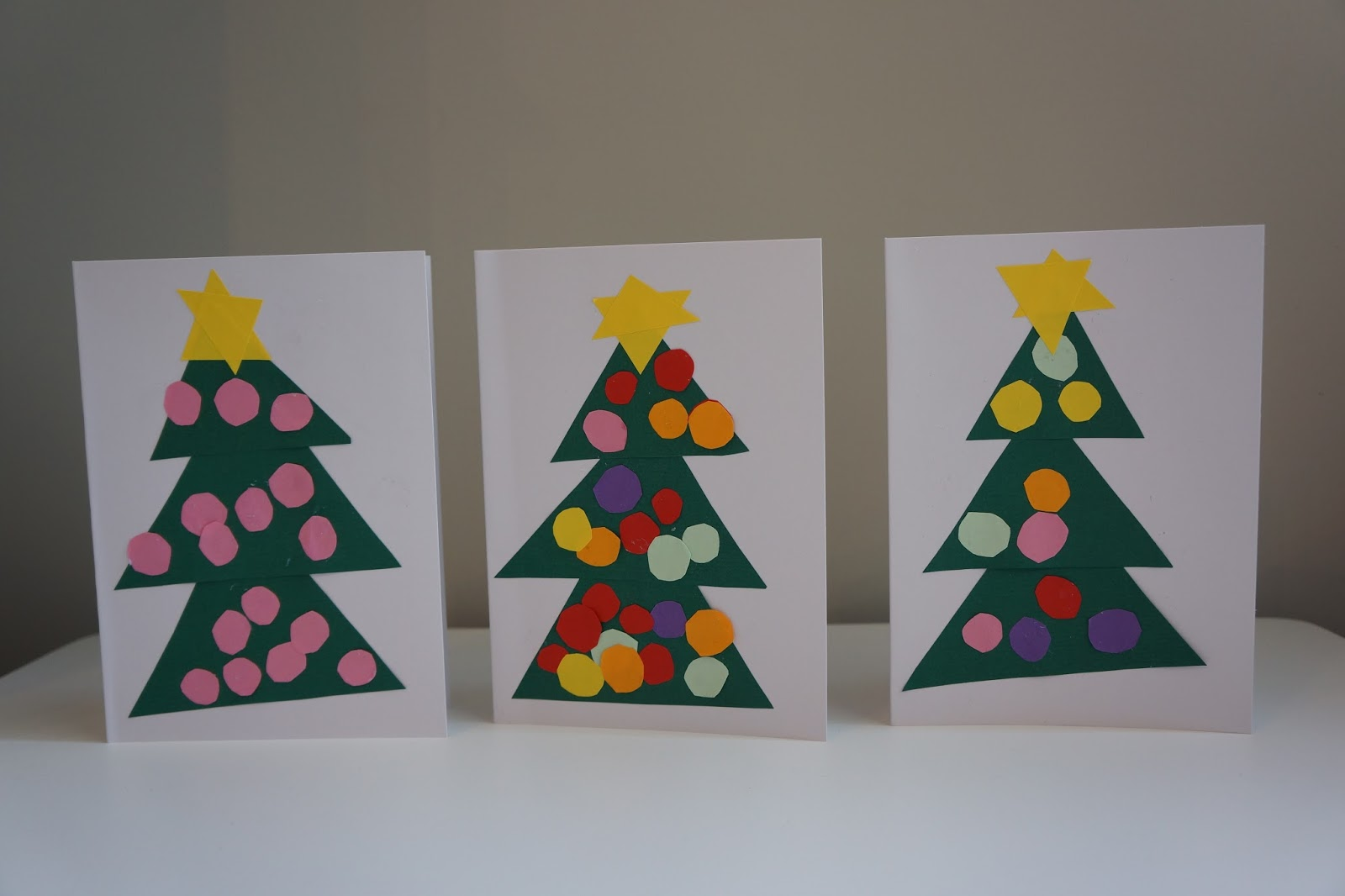 three christmas tree card craft designs