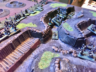 More German infantry threaten the British right flank