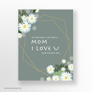mom i love you mothers day flowers  greetings card