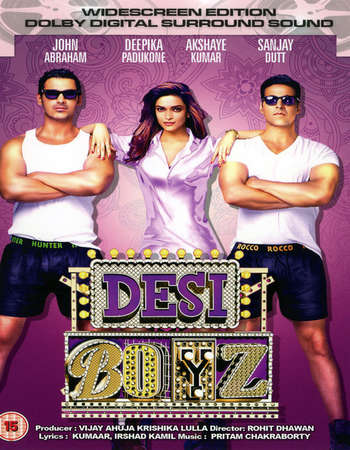 Poster Of Desi Boyz 2011 Hindi 550MB BluRay 720p ESubs HEVC Watch Online Free Download downloadhub.net