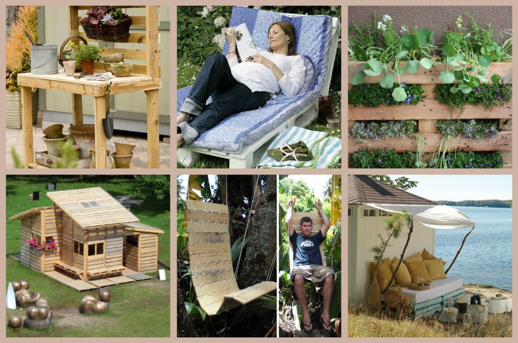 Il giardino segreto come riciclare un pallet o pedana for Idee per il giardino economiche