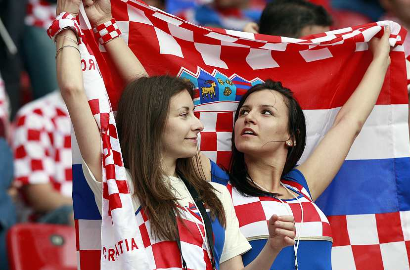 Croatia Female Fans-2 Euro 2016