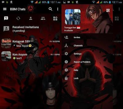BBM MOD Itachi v3.0.1.25 APK