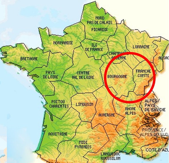 Map Of France With Mountains.Map Of France Jura Mountains Travel