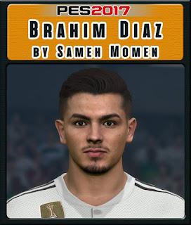 PES 2017 Faces Brahim Diaz by Sameh Momen