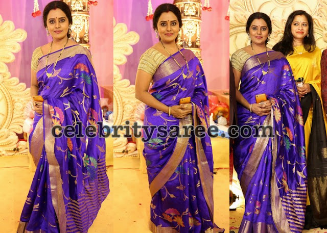 Mallika Purple Uppada Silk Saree
