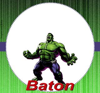 Etiquetas de Fiesta del Increíble Hulk para imprimir gratis.