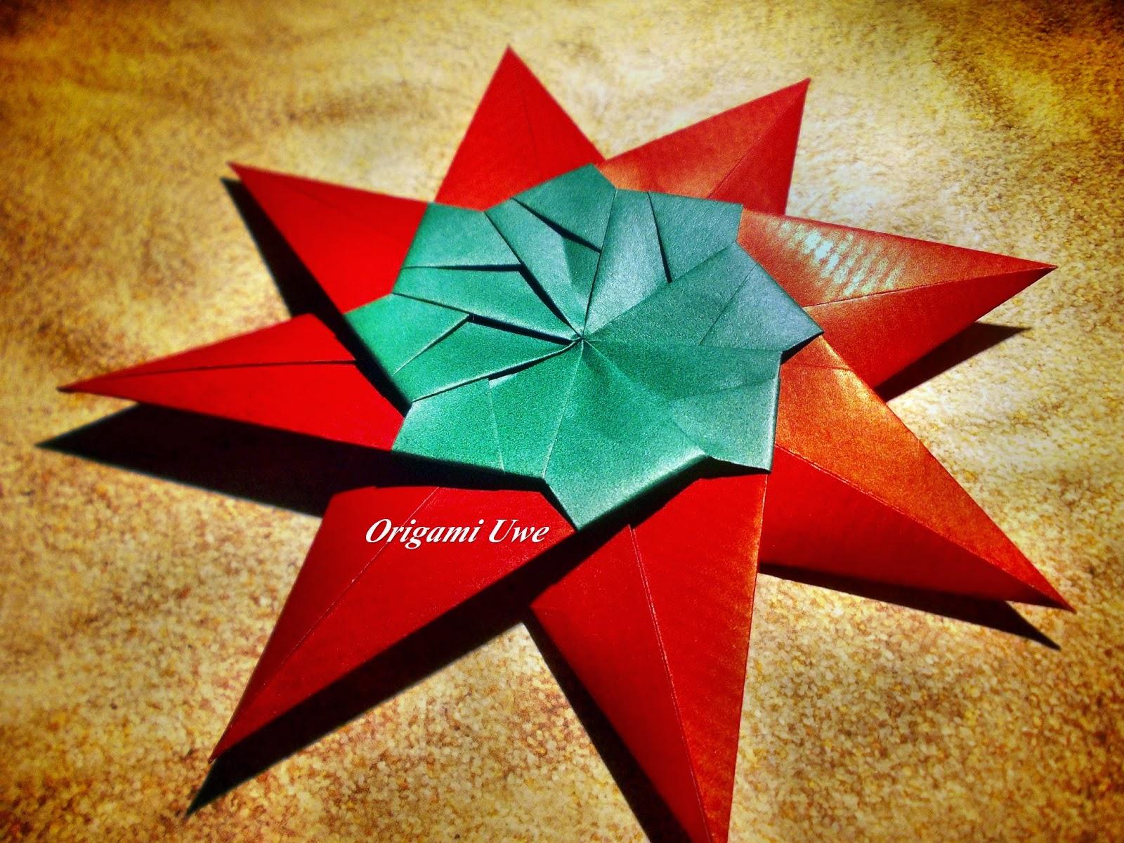 origami fleurogami und sterne modular origami star teil 2. Black Bedroom Furniture Sets. Home Design Ideas