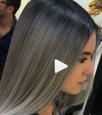 warna rambut abu-abu berpadu dengan warna steel dan silver_9874457