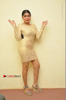 Actress Pooja Roshan Stills in Golden Short Dress at Box Movie Audio Launch  0132.JPG
