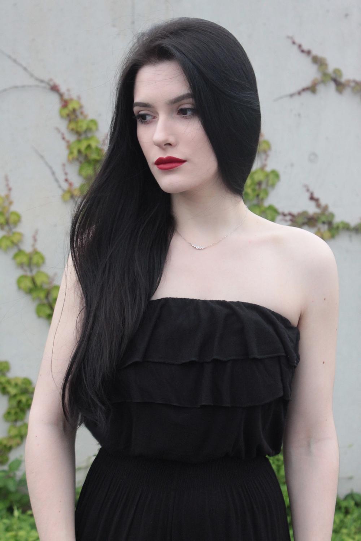 czarny kombinezon l total black l na lato l prosty look