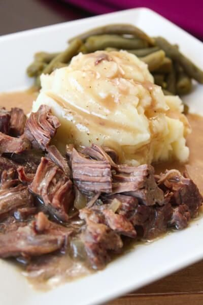 If it comes out of a slow cooker there is a 99% chance it is comfort food. Serve this slow roasted sirloin steak with a side of mashed potatoes. Then drown it in gravy for an ultimate comfort food dinner.