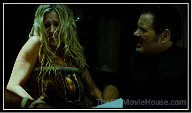 william forsyth is trying to show Sherri Moon-Zombie the script for the film. She doesn't want to see it again.'