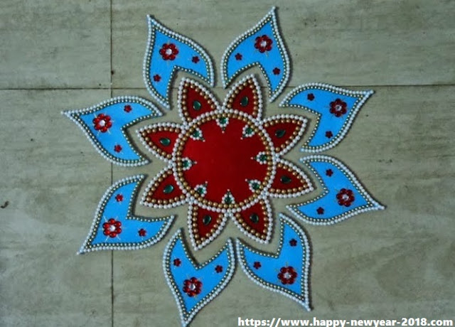 Happy New Year 2018 Rangoli