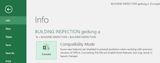 Gambar convert file compatibility mode ke excel 2016