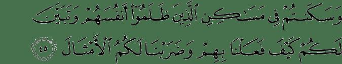 Surat Ibrahim Ayat 45