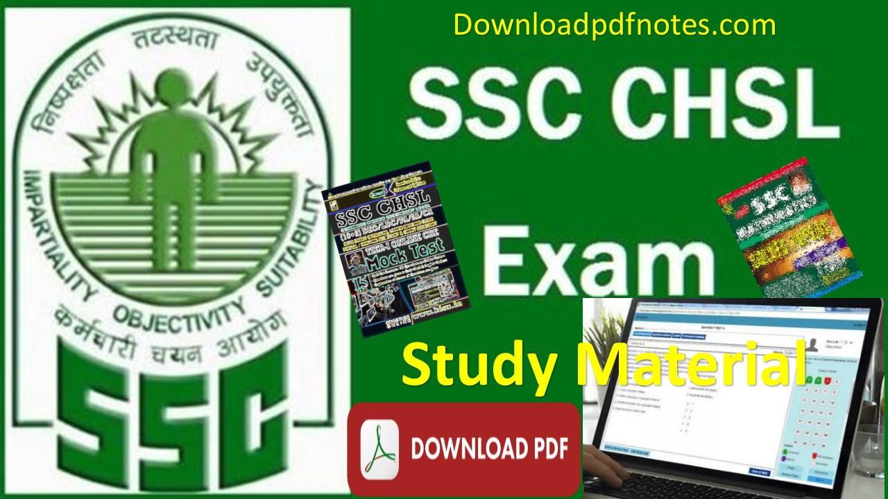 Ssc Chsl Exam Paper Pdf