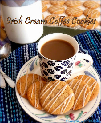 Irish Cream Coffee Cookies will remind you of those winter mornings when you sit down with a cup of coffee with a shot of Irish Cream. | Recipe developed by www.BakingInATornado.com | #recipe #cookies