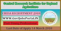 Central Research Institute for Dryland Agriculture Recruitment 2018 – 28 Young Professional & Office Assistant