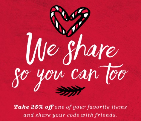 Starbucks 25% off Share The Savings Promo Code