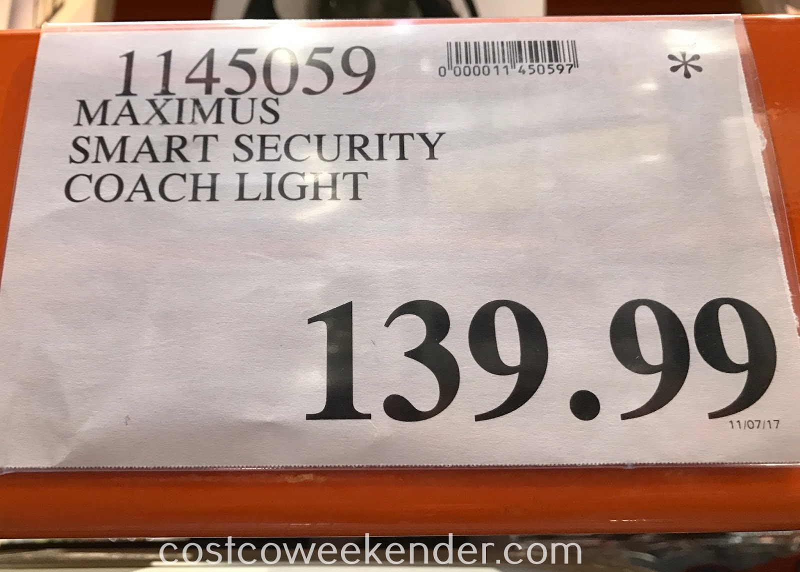 Deal for the Maximus Smart Security Coach Light at Costco