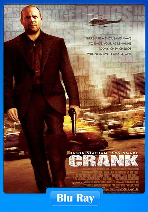 Crank 2006 Hindi 720p Esub BluRay Dual Audio | 480p 300MB | 200MB HEVC x264 Poster