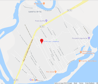 O Res. Vilas da Santa Rita fica localizado as margens da AL 101 Sul em Marechal Deodoro - AL.