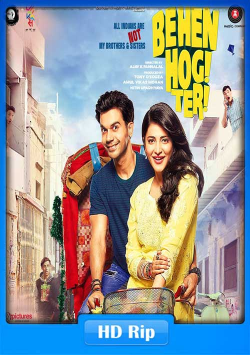 Behen Hogi Teri 2017 300MB Hindi DTHRip x264 Poster