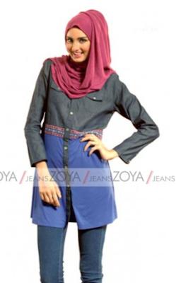 Model Pakaian Muslim Jeans Modis dan Trendy Untuk Wanita