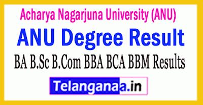 Acharya Nagarjuna University ANU Degree Result