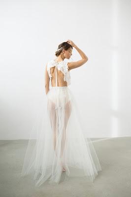 suknia ślubna z bluzką