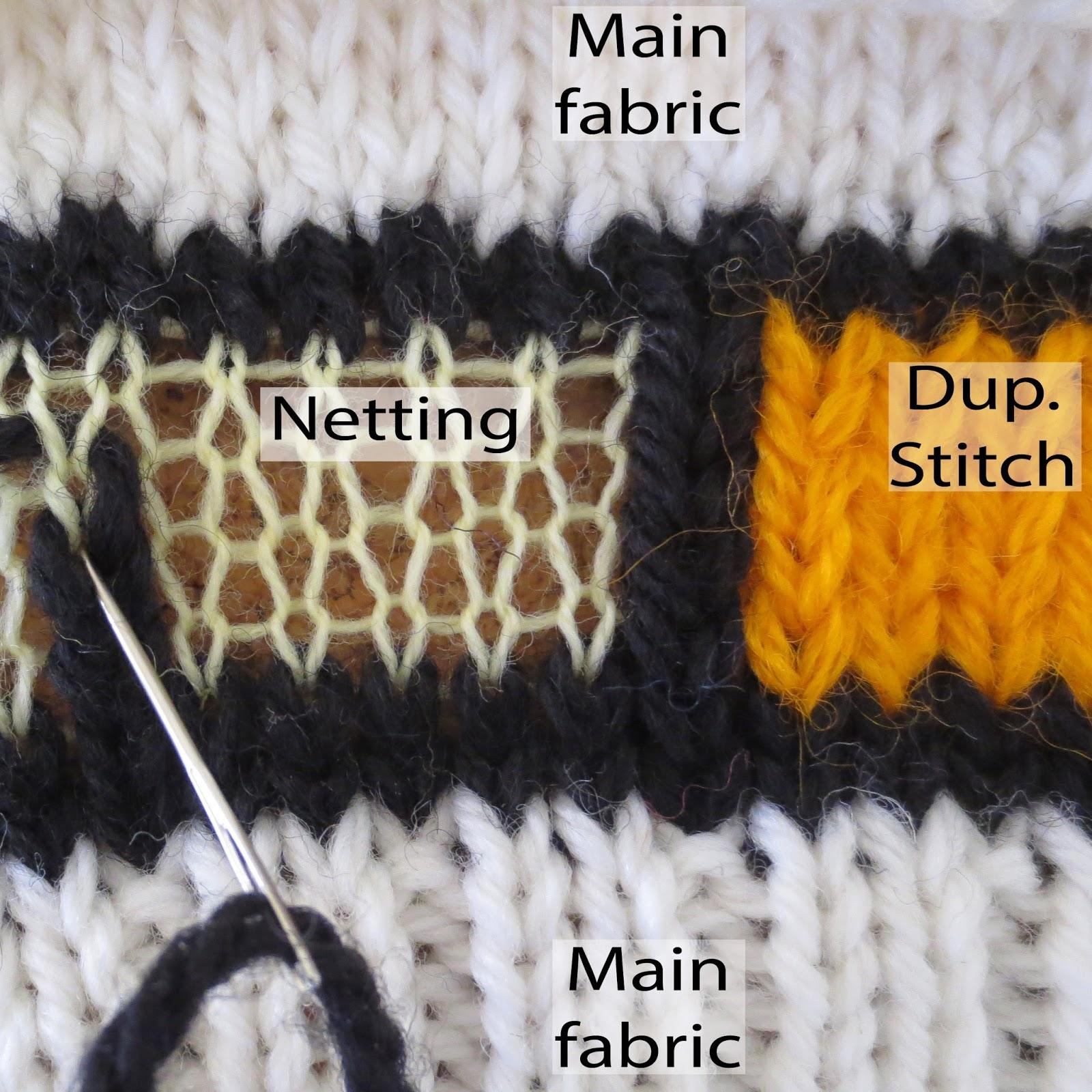 Techknitting Duplicate Stitching Via Netting Part 2 Of A Series