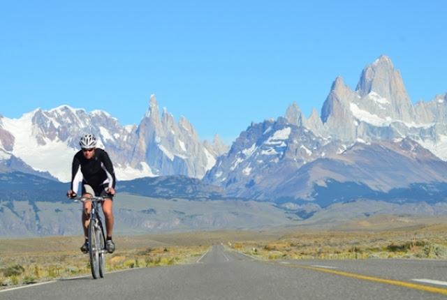Andando de bicicleta em Ushuaia