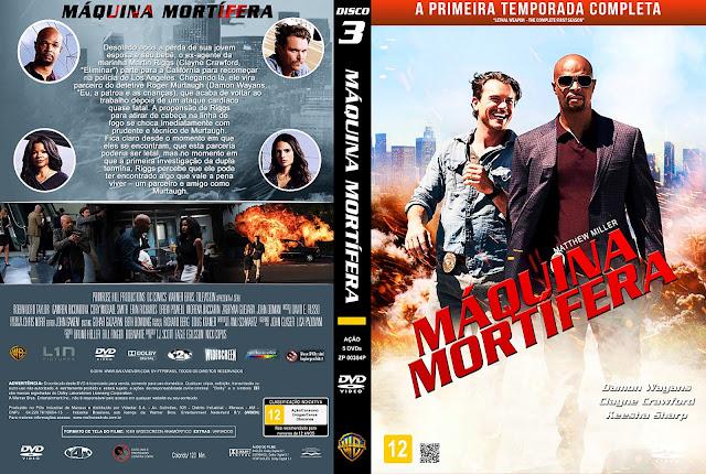 Capa DVD Máquina Mortífera Primeira Temporada Disco 3